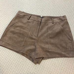 BCBGMaxAzria Shorts - BCBGMAZAZRIA Sergio Faux-Suede Short Size 4